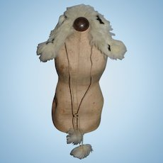 Old Doll Fashion Doll Fur Stole W/ hanging Fur Balls on Cord