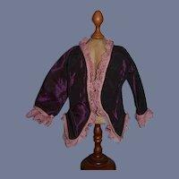 Wonderful Doll Jacket Lace Cord Fancy Fashion Doll