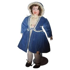 Antique Doll VERY RARE Jumeau SFBJ Series Two Faced French Character BeBe Crying Laughing Dressed & Old Shoes