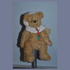 Vintage Hermann Teddy Bear Santa Bear Christmas Bear German Mohair Jointed