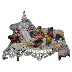 Sweet Miniature Table For Peddler Doll Frozen Charlotte Miniature Horse Santa Doll Dollhouse