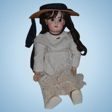 """Antique Doll Bisque French Bisque TeTe Jumeau 27"""" Tall Closed Mouth"""