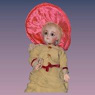Old Doll Hat W/ Doll Hat Box Jerome Alexander Feathers Fancy Pink Bonnet