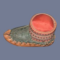 Old Leather Shoe Woven Pin Cushion Pincushion Sweet Sewing