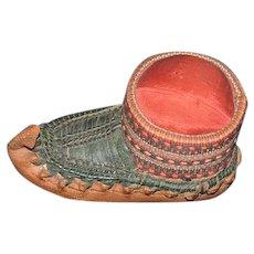Old Leather Shoe Woven Pin Cushion Pincushion Sweet Sewing