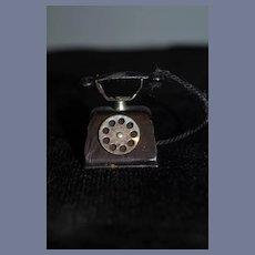 Old Doll Tin Telephone Miniature Dollhouse