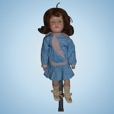 Antique Doll Wood Schoenhut Carved Jointed  Miss Dolly