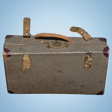 Old Doll Miniature Trunk Suit Case For Doll Sweet! Display Item Fashion Doll