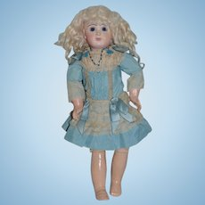 Antique Doll French Bisque TeTe Jumeau Closed Mouth Straight Wrist Pierced Ears