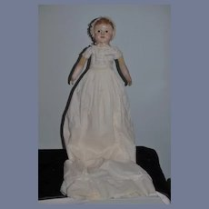 Antique Doll Oil Cloth Doll J.B. Sheppard Philadelphia Baby Doll Gorgeous Antique Clothing