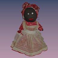 Old Doll Black Cloth Stockinette Rag Doll Charming