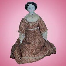 Antique Doll China Head Fancy FAB Clothes By Ann Humphries
