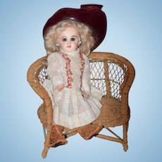Antique Doll French Bisque TeTe Jumeau Size 3 Closed Mouth Gorgeous Petite Size