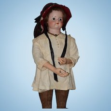 "Antique Doll French FG Bisque Mannequin Wood Legs & Arms Fingers Jointed HUGE 38"" Old Clothes W/ Label Articulated"