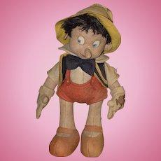 Vintage O'Lis French Doll Felt Pinocchio Cloth