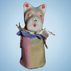 Old Miniature Papier Mache Dog Scotty Scottish Terrier Toy Squeaky Toy Clown