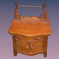 Antique Doll Miniature Wood Washing Stand Fashion Doll Furniture