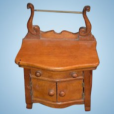 Antique Doll Miniature Wood Washing Stand Fashion Doll Furniture