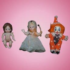 Vintage Doll Set Artist Dolls Miniature Dollhouse
