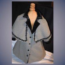 Wonderful Doll Hand Made Gladys Wool Velvet Coat w/ Cape