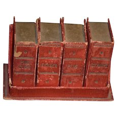 Wonderful Doll Miniature Book Case W/ Faux Books Miniature Desk set Box Set Fashion Doll