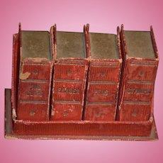 Wonderful Doll Miniature Book Case W/ Faux Books Miniature Desk set Box Set Fashion Doll
