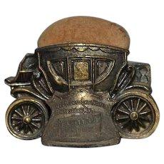 Old Metal Pincushion Carriage Miniature Doll Pin Cushion