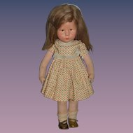 Wonderful Old Kathe Kruse Doll Signed on Foot W/ Number Gorgeous