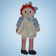 Vintage Doll Raggedy Ann Cloth Doll Rag Doll