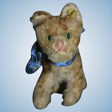 Old Steiff Cat Mohair W/ Button Tag Sweet!! Doll Companion