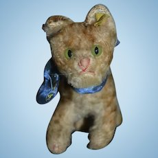 Old Steiff Cat Mohair W/ Button Tag Sweet!! Doll Companion