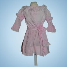 Wonderful Doll Dress For Special Doll Tie Back Sash & Flower GORGEOUS