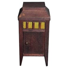 Old Wood Miniature Doll Dollhouse Record Player Dollhouse