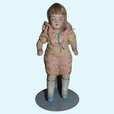 Antique Doll All Bisque Miniature Dollhouse