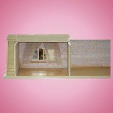 Wonderful Doll Room Box Dollhouse Stairs W/ Balcony Miniature Very Unusual Wood