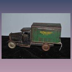 Old METALCRAFT Box Truck St. Louis 1930's Metal