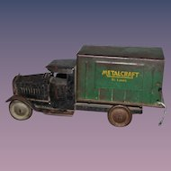 Old METALCRAFT Box Truck St. Louis 1930's Metal