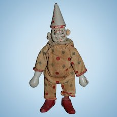 Old Wood Schoenhut Clown Doll For Circus Original outfit Carved: Jointed