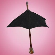 Old Doll Wood Glass Handle Parasol Umbrella