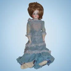 """Antique Doll German Bisque Kestner Closed Mouth Gorgeous Look 20"""" Tall"""