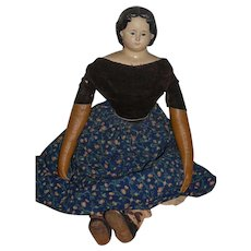"Antique Doll Greiner Papier Mache HUGE Charming! 30"" Tall W/ Label"