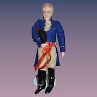 Wonderful Vintage Doll Artist Soldier Unusual Wonderful Outfit