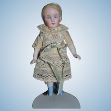 Old Doll All Bisque Jointed Arms Miniature Dollhouse