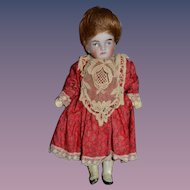 Antique Doll Miniature Bisque Dollhouse Dressed