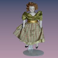 Antique Doll Bisque Dollhouse Miniature Dressed