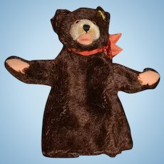 Vintage Steiff Teddy Bear Mohair Puppet Button Tag