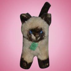 Vintage Stuffed Animal Cat Jungle Toys London England Siamese