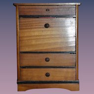 Antique Doll Wood Miniature Dollhouse Desk Cabinet Secretary