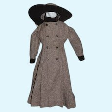 Wonderful Doll Dress Coat & Hat Two Piece outfit Fashion Doll