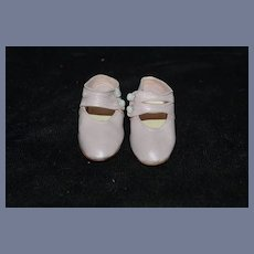 Old Doll Softer Leather Buttons Double Strap Shoes